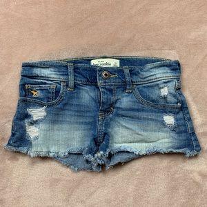 Abercrombie Kids Distress Denim Shorts
